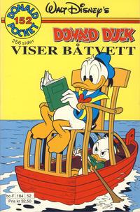 Cover Thumbnail for Donald Pocket (Hjemmet / Egmont, 1968 series) #152 - Donald Duck viser båtvett [1. opplag]