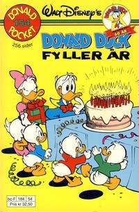 Cover Thumbnail for Donald Pocket (Hjemmet / Egmont, 1968 series) #154 - Donald Duck fyller år [1. opplag]