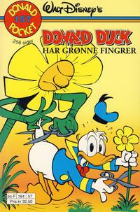 Cover Thumbnail for Donald Pocket (Hjemmet / Egmont, 1968 series) #157 - Donald Duck har grønne fingrer [1. opplag]