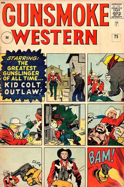 Cover for Gunsmoke Western (Marvel, 1955 series) #75 [British]