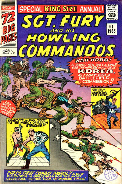 Cover for Sgt. Fury Annual (Marvel, 1965 series) #1