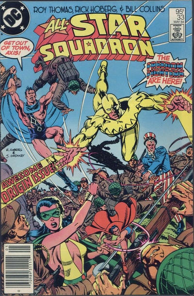Cover for All-Star Squadron (DC, 1981 series) #33 [Direct Edition]
