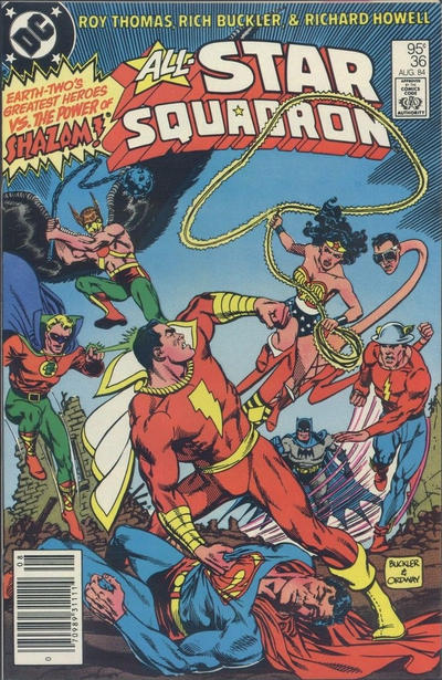 Cover for All-Star Squadron (DC, 1981 series) #36 [Direct Edition]