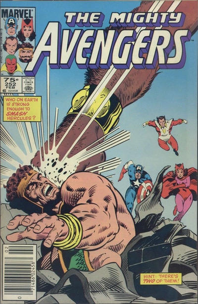 Cover for The Avengers (Marvel, 1963 series) #252 [Direct Edition]
