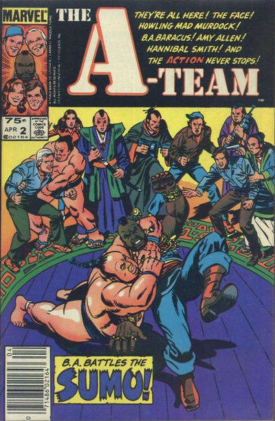 Cover for The A-Team (Marvel, 1984 series) #2 [Direct Edition]