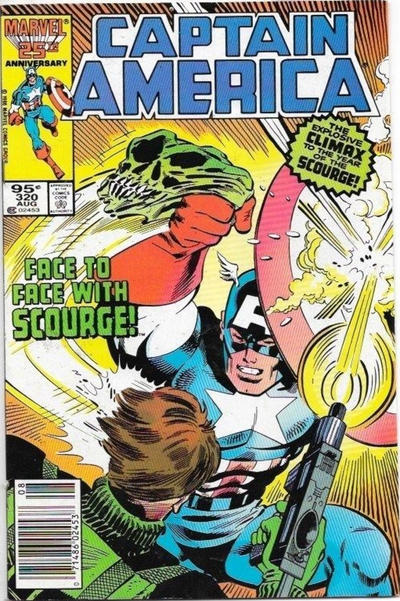 Cover for Captain America (Marvel, 1968 series) #320 [Direct Edition]