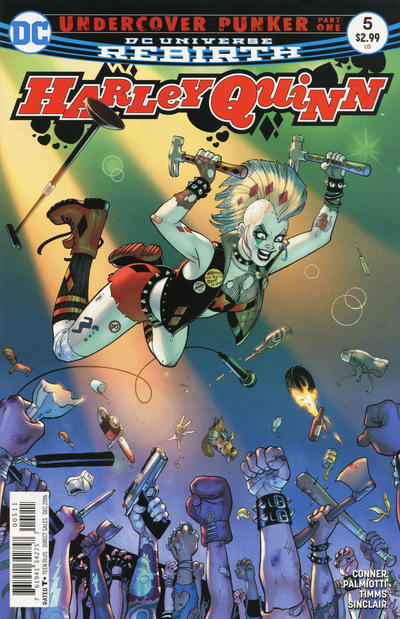 Cover for Harley Quinn (DC, 2016 series) #5 [Amanda Conner Cover Variant]