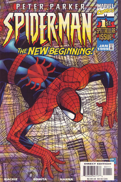 Cover for The Amazing Spider-Man (Marvel, 1999 series) #1 [The Romitas Variant Cover]