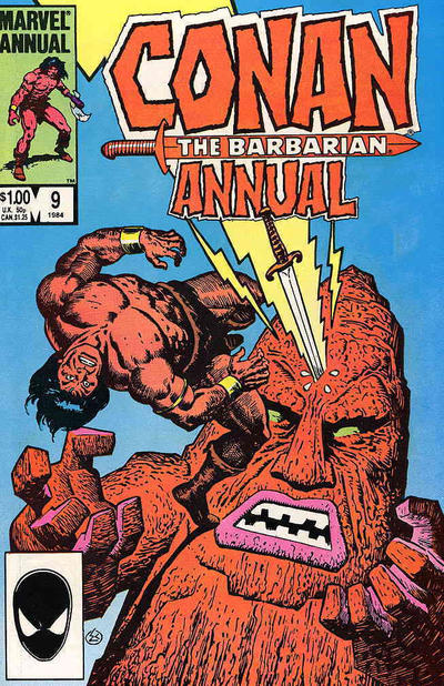 Cover for Conan Annual (Marvel, 1973 series) #9 [Direct Edition]