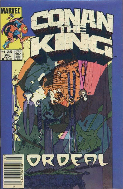 Cover for Conan the King (Marvel, 1984 series) #23 [Newsstand Edition]
