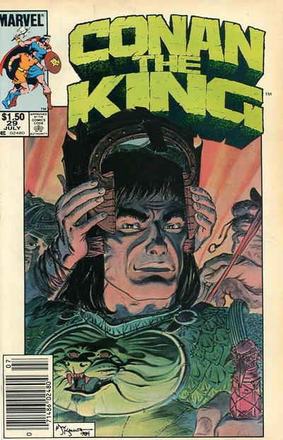 Cover for Conan the King (Marvel, 1984 series) #29 [Direct Edition]