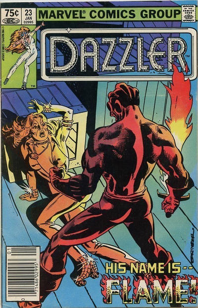 Cover for Dazzler (Marvel, 1981 series) #23 [Direct Edition]