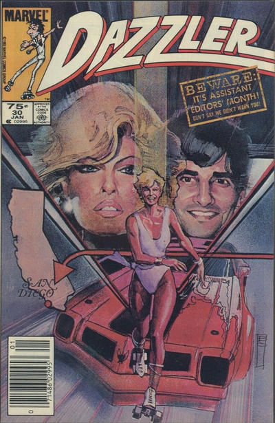 Cover for Dazzler (Marvel, 1981 series) #30 [Direct Edition]