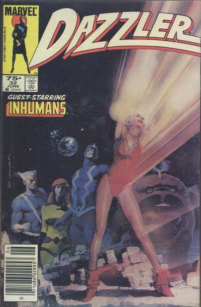 Cover for Dazzler (Marvel, 1981 series) #32 [Direct Edition]