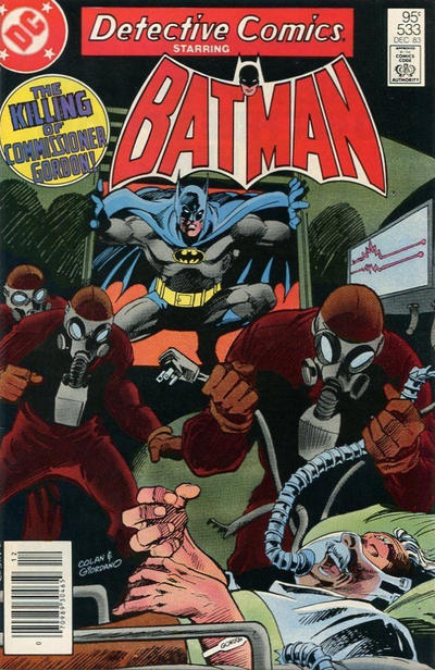 Cover for Detective Comics (DC, 1937 series) #533 [Direct-Sales]