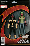 Cover Thumbnail for Champions (2016 series) #1 [John Tyler Christopher Action Figure Two-Pack (Nova and Viv Vision)]
