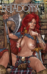 Cover Thumbnail for Belladonna (Avatar Press, 2015 series) #0 [Costume Change Topless Cover - Christian Zanier]