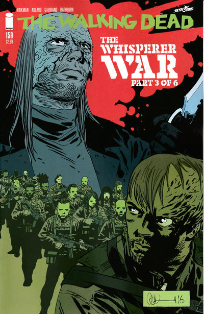 Cover for The Walking Dead (Image, 2003 series) #159 [Charlie Adlard Standard Cover]