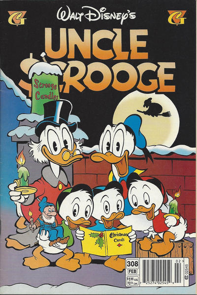 Cover for Walt Disney's Uncle Scrooge (Gladstone, 1993 series) #308 [Direct]