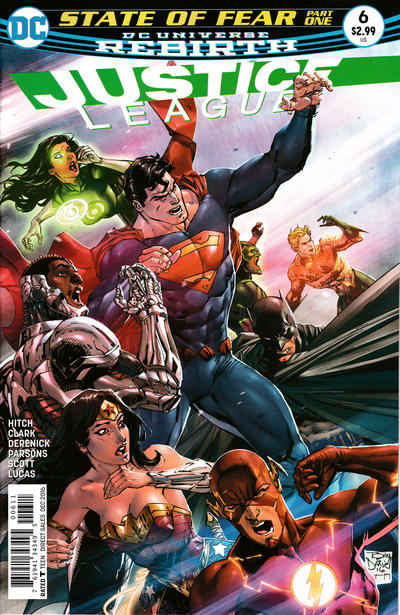 Cover for Justice League (DC, 2016 series) #6 [Tony S. Daniel Cover Variant]