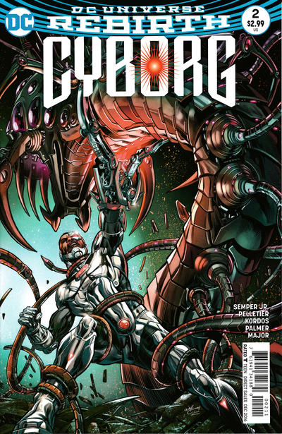 Cover for Cyborg (DC, 2016 series) #2 [Will Conrad Cover]