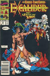 Cover for Excalibur (Marvel, 1988 series) #19 [Newsstand Edition]