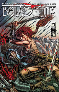 Cover Thumbnail for Belladonna (Avatar Press, 2015 series) #1 [Bloodlust Nude - Raulo Caceres]