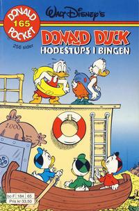 Cover Thumbnail for Donald Pocket (Hjemmet / Egmont, 1968 series) #165 - Donald Duck Hodestups i bingen [1. opplag]