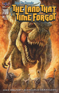Cover Thumbnail for Edgar Rice Burroughs' The Land That Time Forgot (American Mythology Productions, 2016 series) #2 [Painted Subscription Cover]