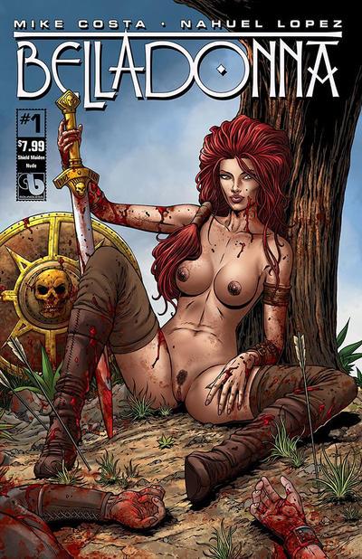 Cover for Belladonna (Avatar Press, 2015 series) #1 [Century Nude Cover E - Paulo Siquiera]