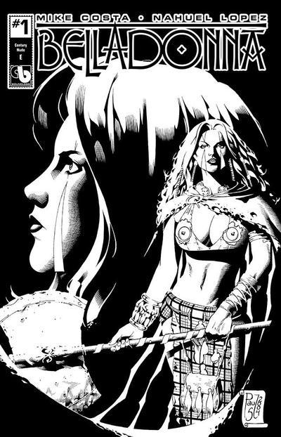 Cover for Belladonna (Avatar Press, 2015 series) #1 [Century Bikini Nude & Naughty Cover C - Christian Zanier]