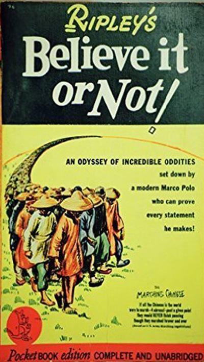 Cover for Ripley's Believe It or Not! (Pocket Books, 1941 series) #1