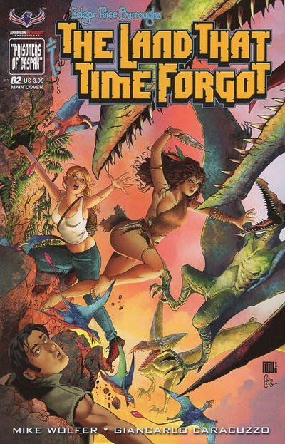 Cover for Edgar Rice Burroughs' The Land That Time Forgot (American Mythology Productions, 2016 series) #2 [Painted Subscription Cover]