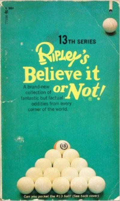 Cover for Ripley's Believe It or Not! (Pocket Books, 1941 series) #13 [9th Printing]