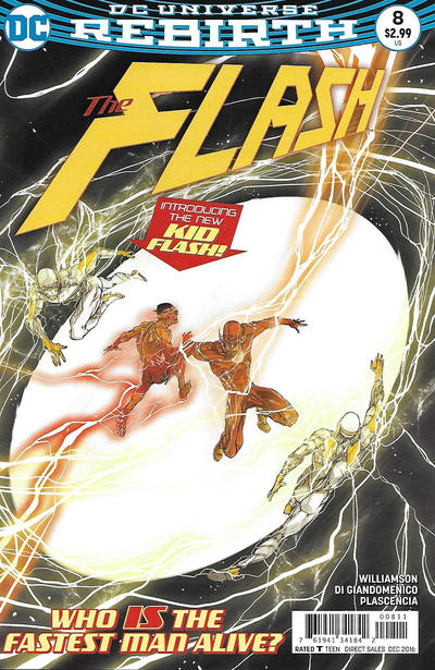 Cover for The Flash (DC, 2016 series) #8 [Dave Johnson Variant Cover]