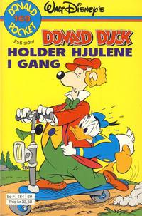 Cover Thumbnail for Donald Pocket (Hjemmet / Egmont, 1968 series) #169 - Donald Duck holder hjulene i gang [1. opplag]