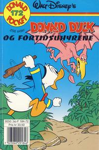 Cover Thumbnail for Donald Pocket (Hjemmet / Egmont, 1968 series) #172 - Donald Duck og fortidsuhyrene [1. opplag]