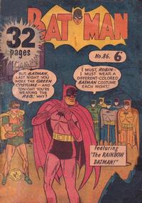 Cover Thumbnail for Batman (K. G. Murray, 1950 series) #86