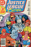 Cover for Justice League Europe (DC, 1989 series) #1 [Newsstand]