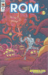 Cover for ROM (IDW, 2016 series) #1 [Bedrock City Comic Company Variant]