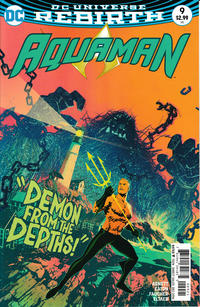 Cover for Aquaman (DC, 2016 series) #9 [Brad Walker / Drew Hennessy Cover]