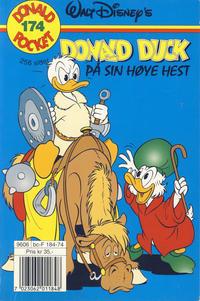 Cover Thumbnail for Donald Pocket (Hjemmet / Egmont, 1968 series) #174 - Donald Duck på sin høye hest [1. opplag]