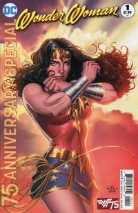 Cover Thumbnail for Wonder Woman 75th Anniversary Special (DC, 2016 series) #1 [Nicola Scott Variant Cover]