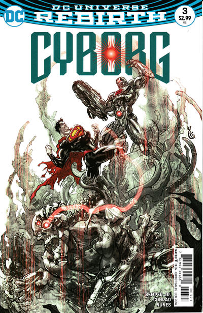 Cover for Cyborg (DC, 2016 series) #3 [Carlos D'Anda Variant Cover]