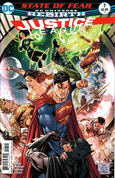 Cover for Justice League (DC, 2016 series) #7 [Yanick Paquette Connecting Cover F Variant]