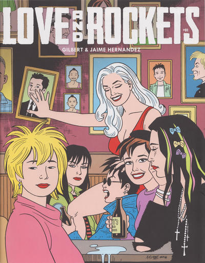 Cover for Love and Rockets (Fantagraphics, 2016 series) #1 [Heroes Aren't Hard to Find]