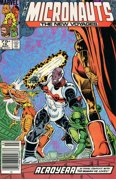 Cover for Micronauts (Marvel, 1984 series) #18 [Direct]