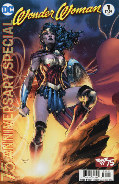 Cover for Wonder Woman 75th Anniversary Special (DC, 2016 series) #1 [Jim Lee Cover]