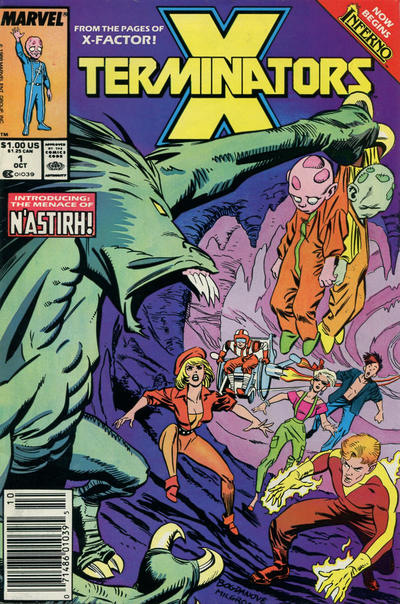 Cover for X-Terminators (Marvel, 1988 series) #1 [Direct]