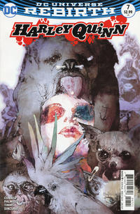 Cover Thumbnail for Harley Quinn (DC, 2016 series) #7 [Bill Sienkiewicz Cover Variant]